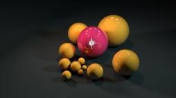 orange & pink balls